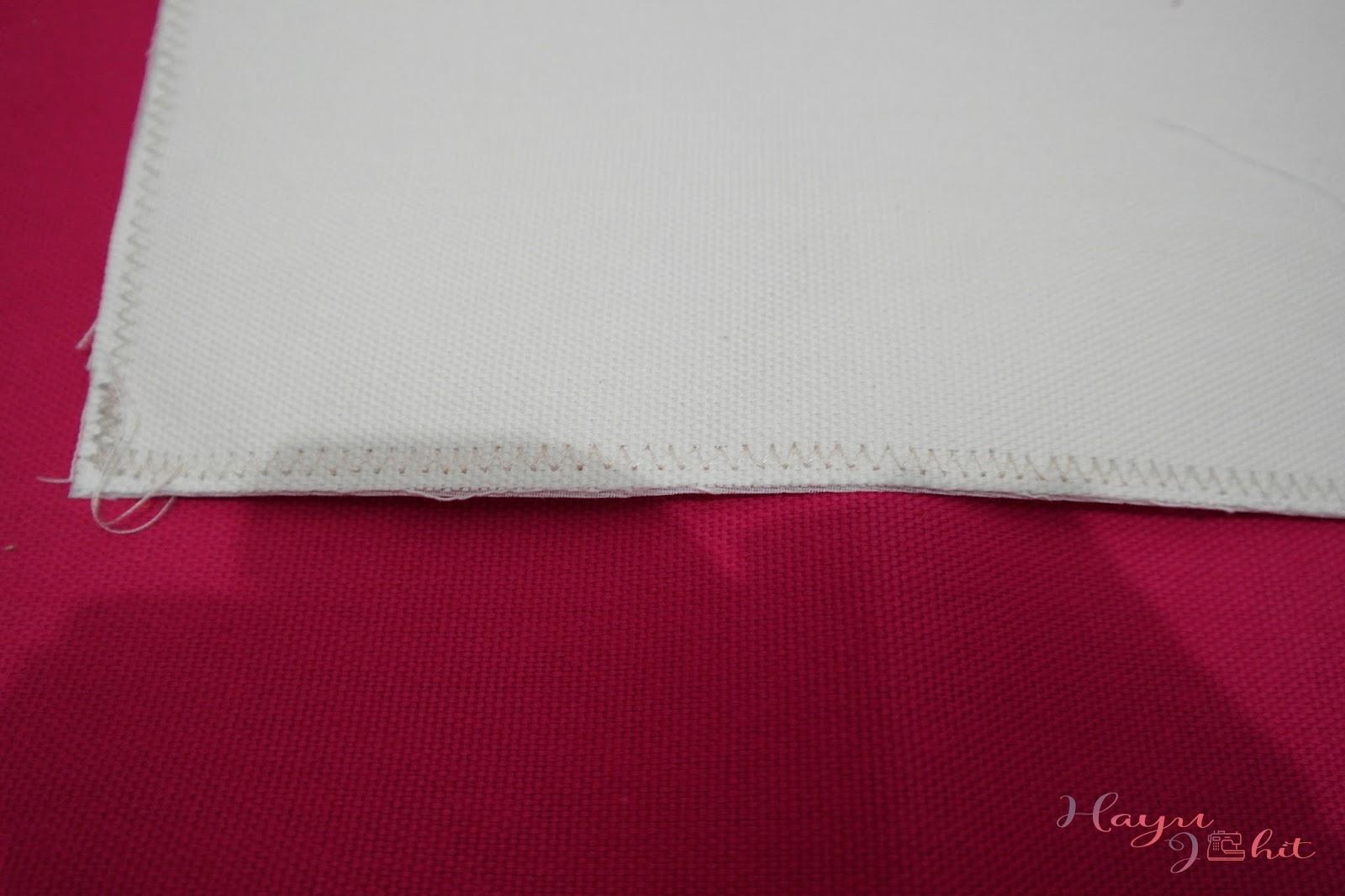 Diy Tutorial Jahit Tempat Pensil Pencil Case With Zipper Hayu Bahan Kanvas Zigzag Pinggiran Kain