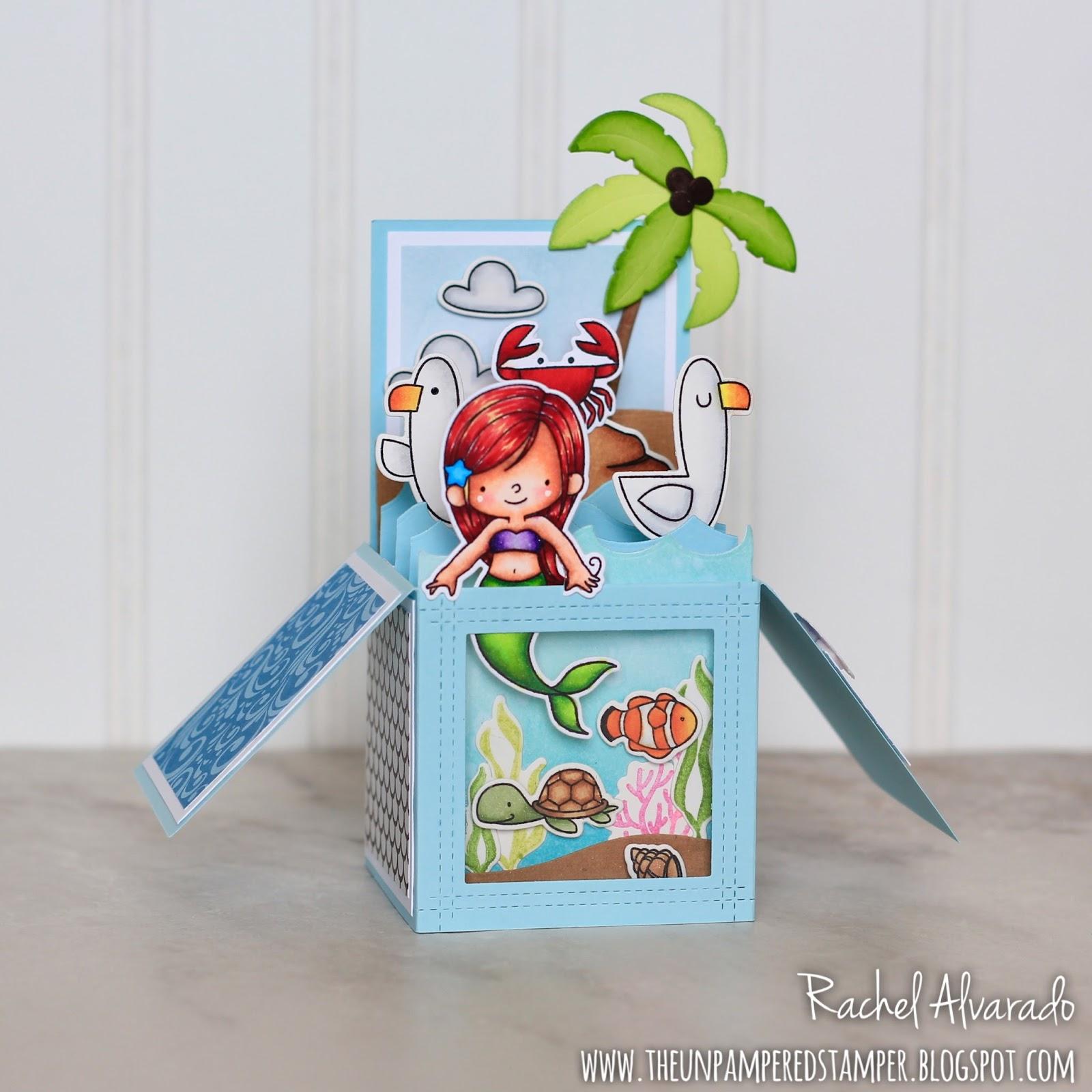 The Unpampered Stamper: Mermaid Box Card