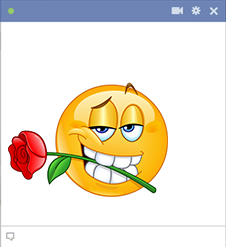 Rose in Mouth | Symbols & Emoticons