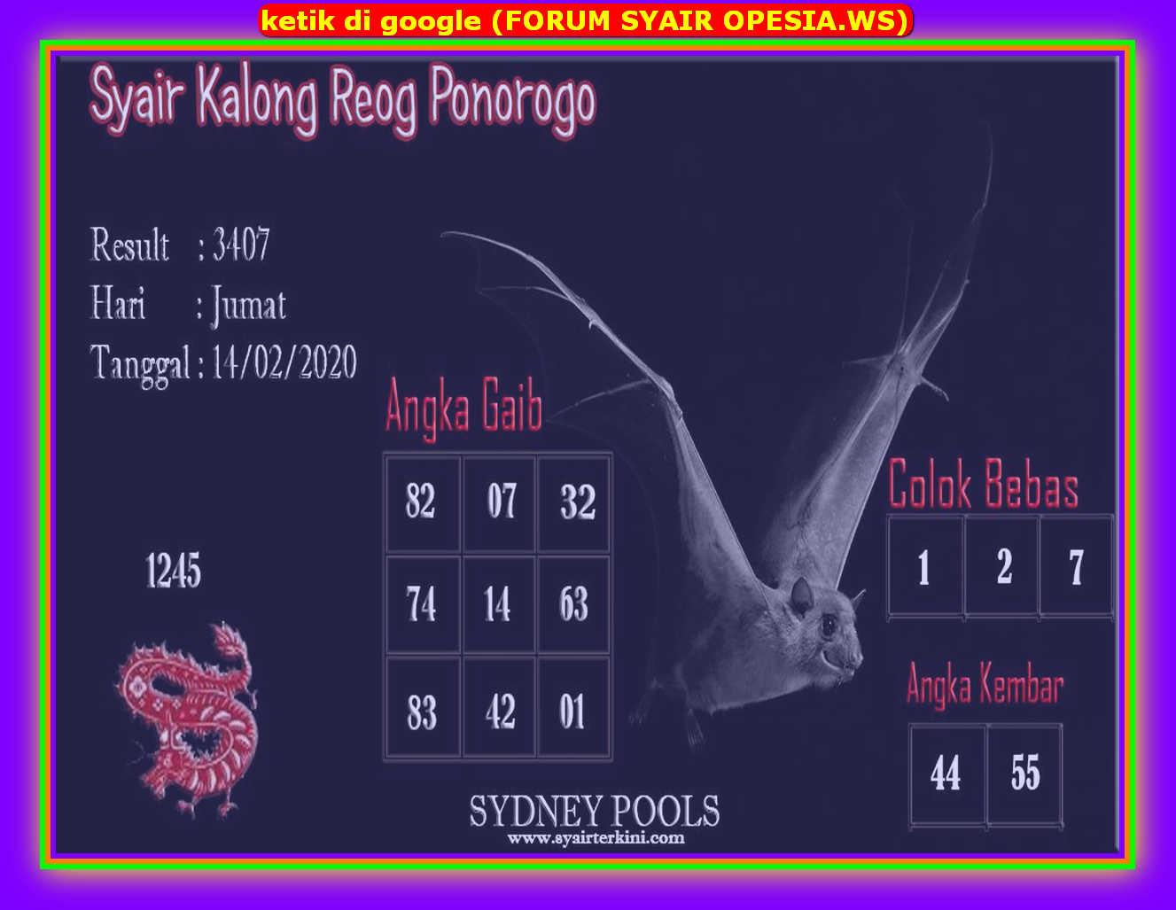 Kode syair Hongkong Jumat 14 Februari 2020 71