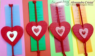 segnalibro elastico ciondolo cuore