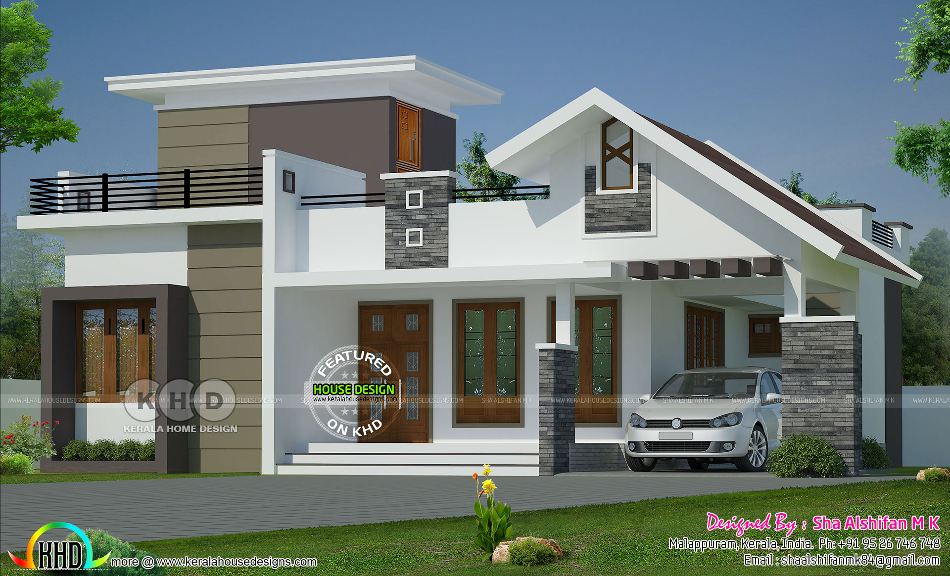 1132 Sq Ft 2 Bedroom Single Floor Home Mixed Roof Kerala Home Design And Floor Plans 8000 Houses