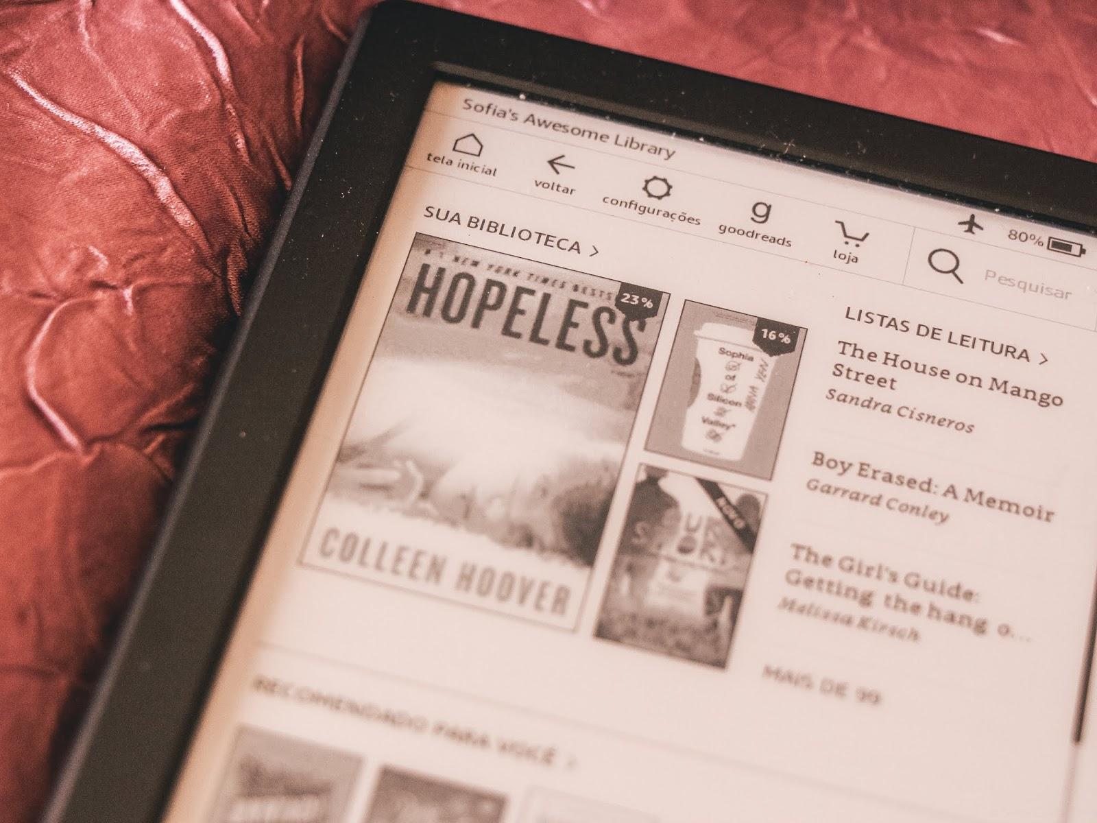 Como organizo o Kindle