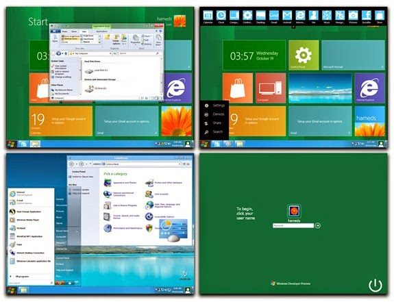 Download Free Windows 8 Theme for Xp in One Click