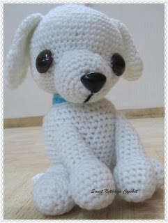 crochet toy, crochet dog,