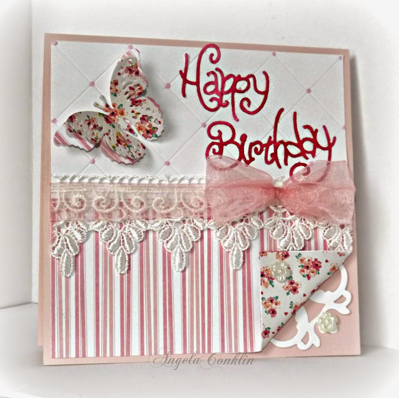 Handmade Birthday Card: Pretty in Pink