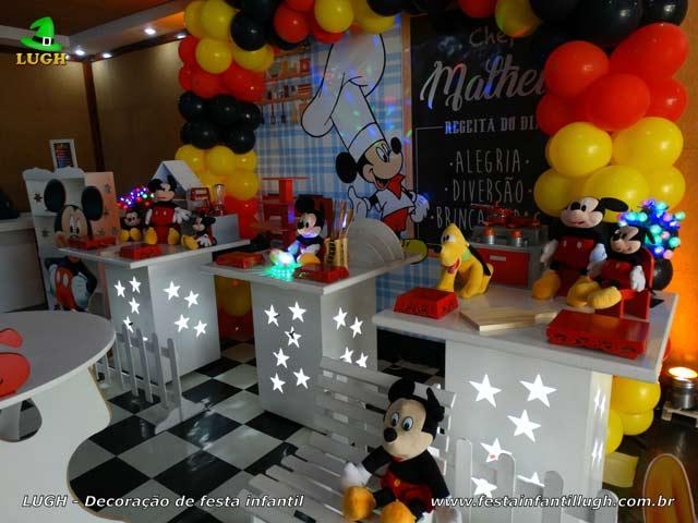 Decoração de festa tema Cozinha do Mickey - Aniversário infantil