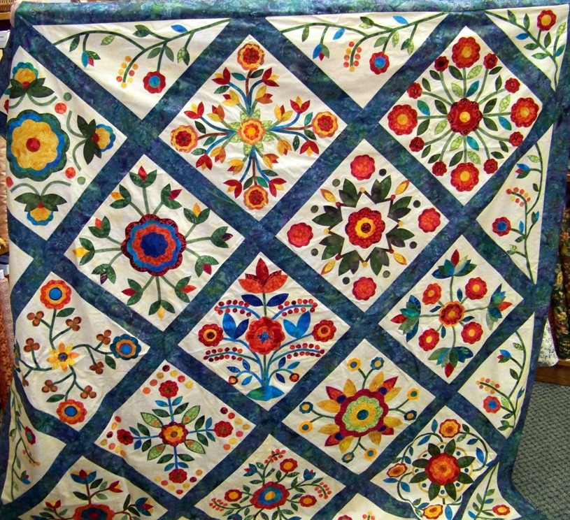 Rose Of Sharon Quilt Pattern Patterns Gallery