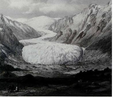 Glaciar Nigards en 1853