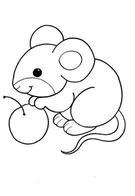 Tranh tô màu con chuột cho bé 5 tuổi