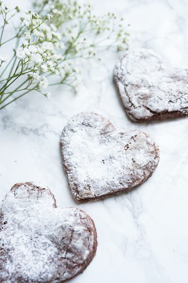 Valentines Truffle Heart Cookies