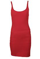 Rochie Bershka Sharp Red (Bershka)