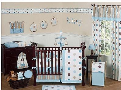 Dormitorios para bebés con lunares o polka dot - Dormitorios colores ...