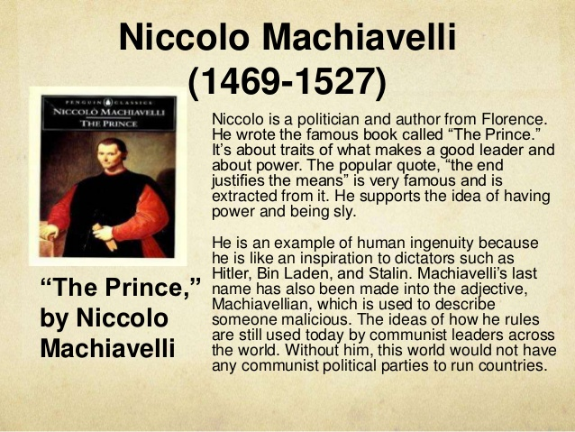 an overview of the political theories of niccolo machiavelli a renaissance political philosopher Machiavelli on the use of immoral means in politics during the florentine renaissance, machiavelli accomplished the machiavelli and political theory under.