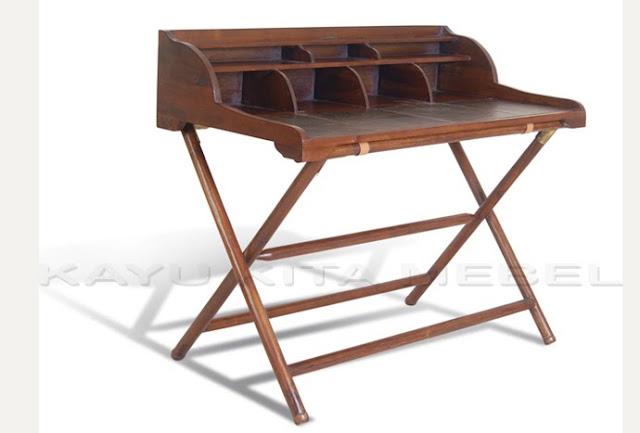 meja tulis anak model klasik kayu jati