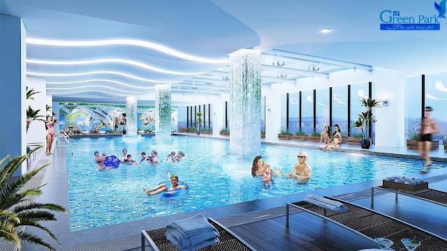 Bể bơi chung cư PD Green Park