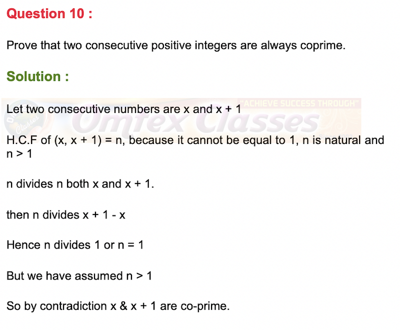 Prove that two consecutive positive integers are always coprime.