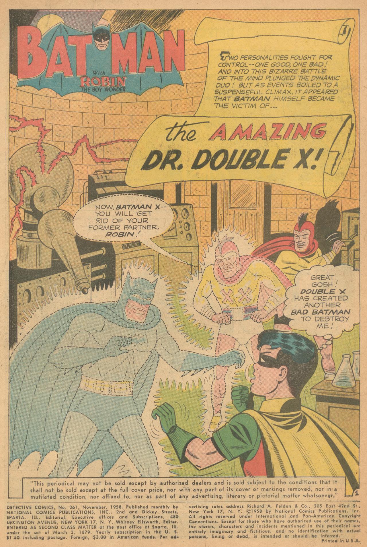 Read online Detective Comics (1937) comic -  Issue #261 - 3