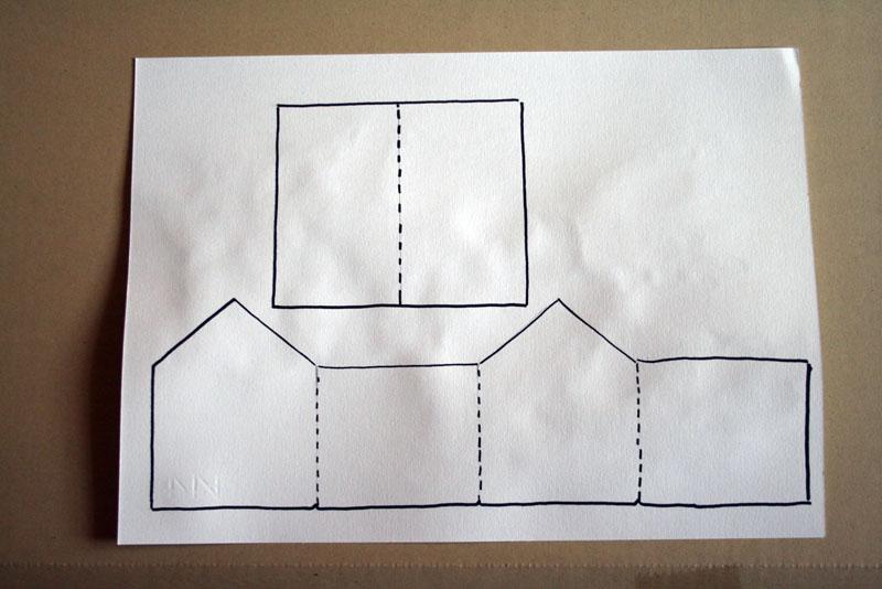 A casa di eli per l 39 ora del t casette sorpresa - Casette di cartone da costruire ...