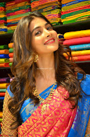 Puja Hegde looks stunning in Red saree at launch of Anutex shopping mall ~ Celebrities Galleries 008.JPG