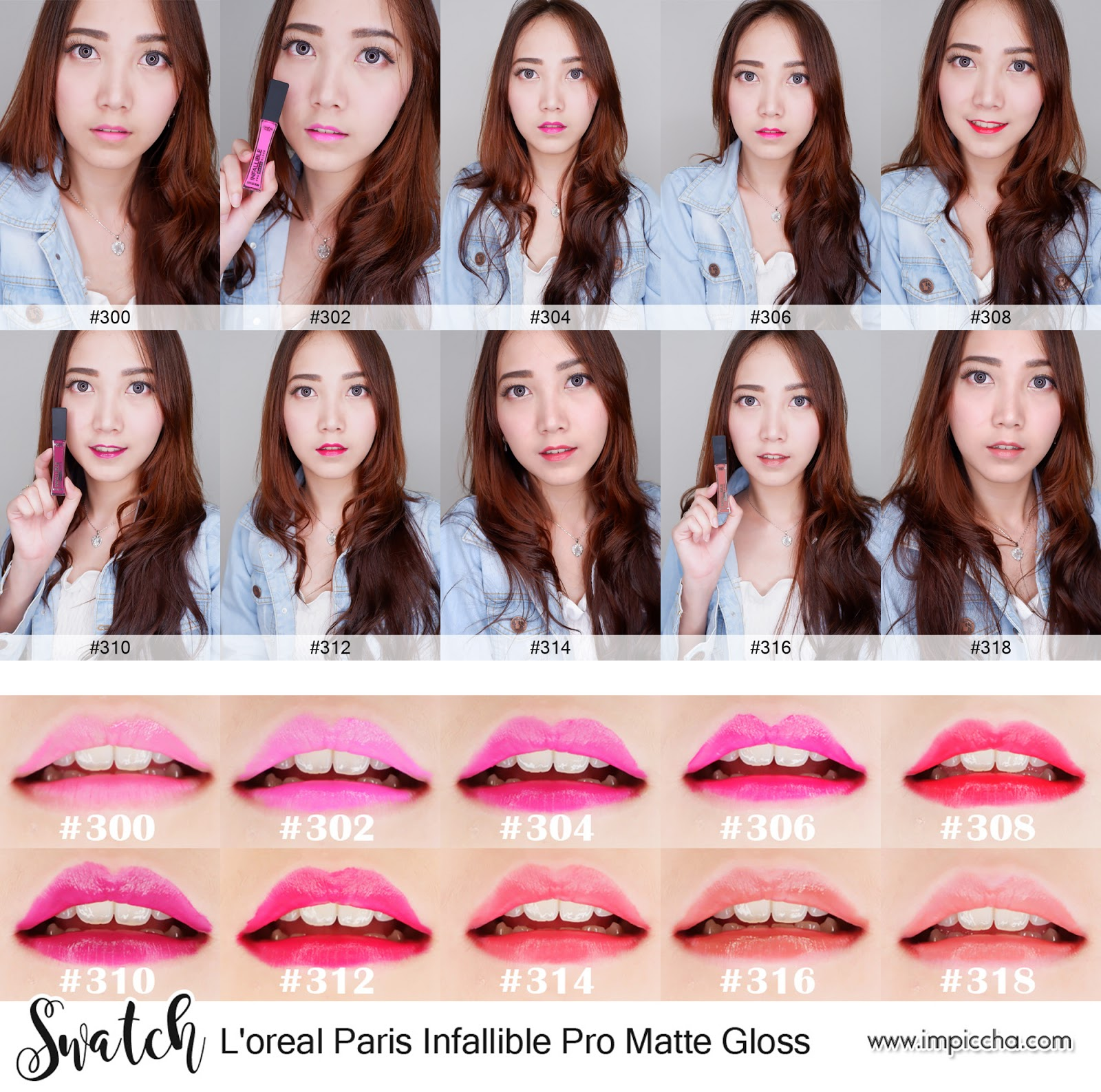 Swatch L'oreal Paris Infallible Pro Matte Gloss