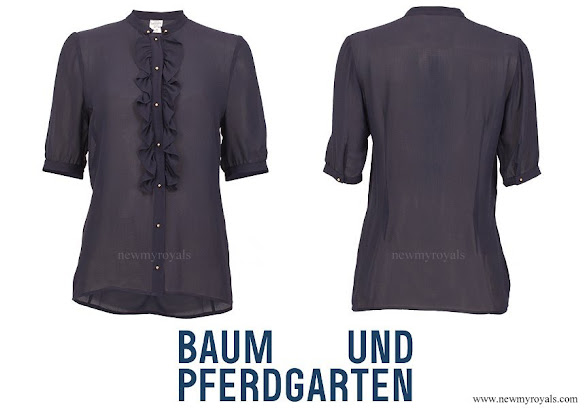 Crown Princess Victoria wore Baum und Pferdgarten Mavis Silk blend blouse