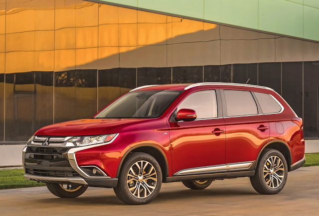 2016 Mitsubishi Outlander red