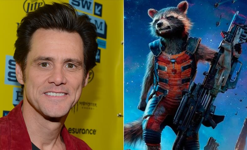 JIM CARREY (Rocket Raccoon)