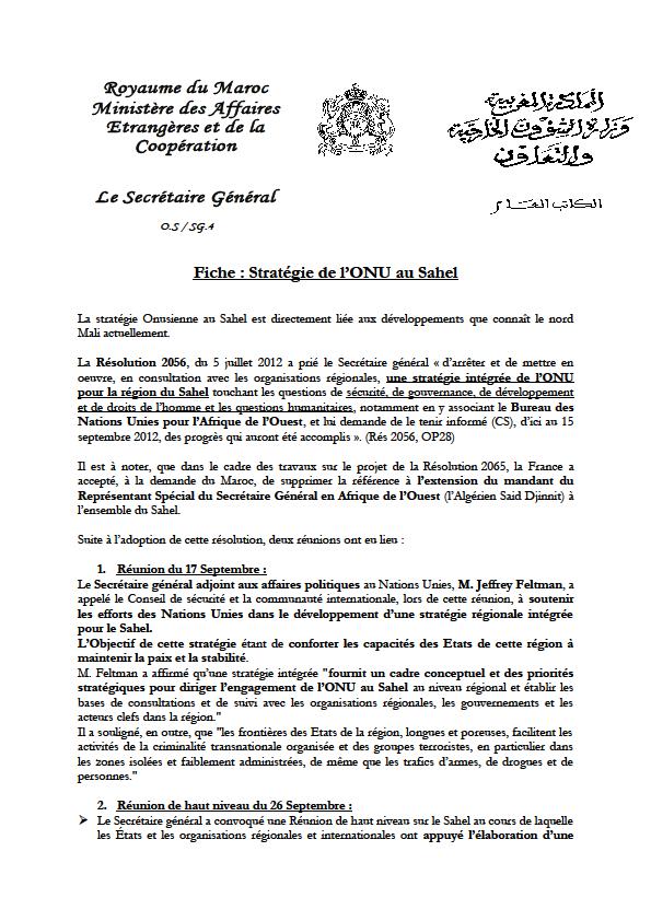 Marruecos, empujado por los celos, sabotea, con la ayuda de Francia, la nominación de diplomáticos argelinos por la ONU