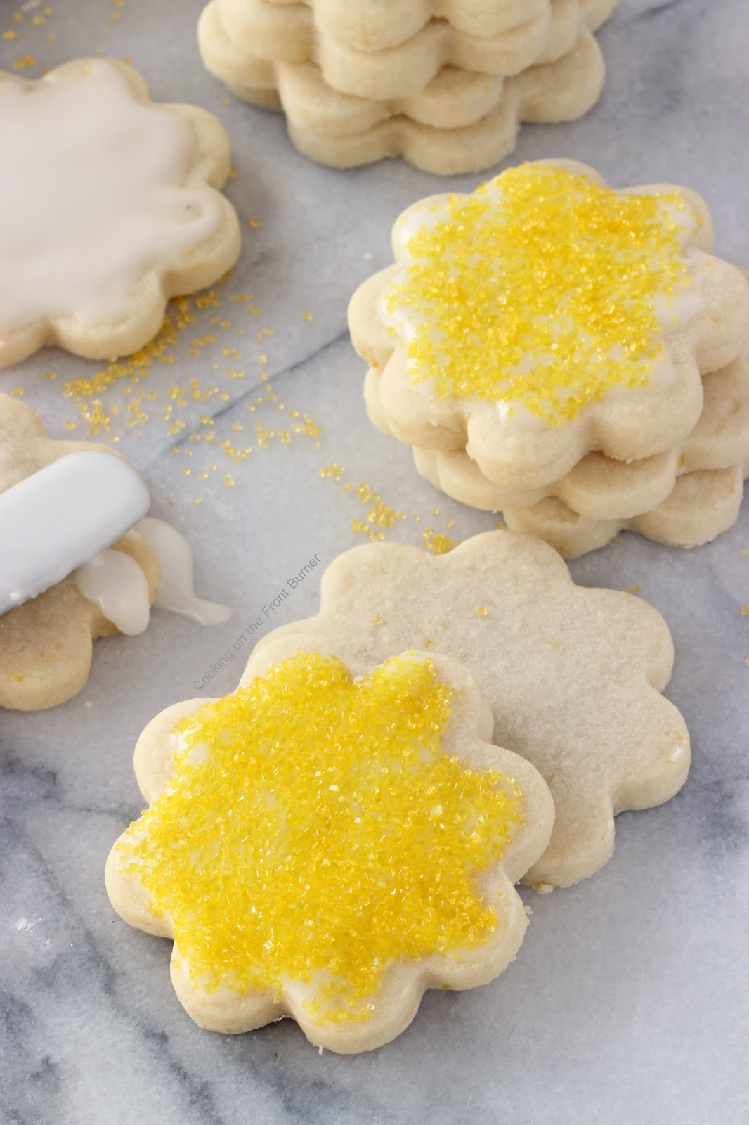 Lemon Shortbread Cookies | Cooking on the Front Burner