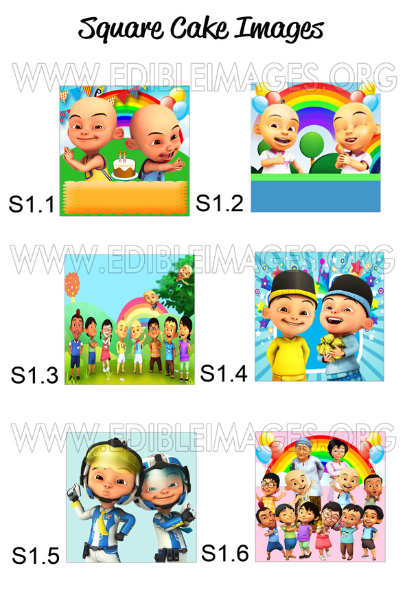 Edible Image Upin and Ipin