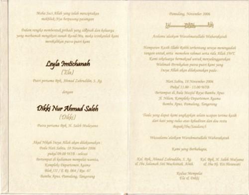 Mau Nikah, Bikin Undangan dengan Undangan Pernikahan Online  Leyla Hana