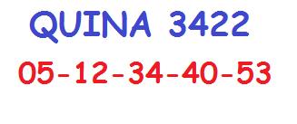 Resultado Quina 3.422