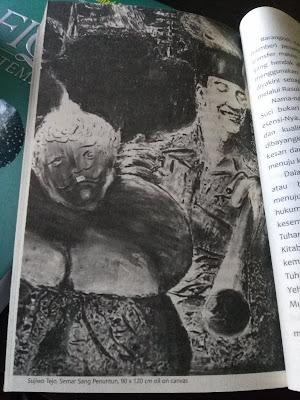 Salah Satu Bentuk Lukisan Sujiwo Tejo di Buku ini