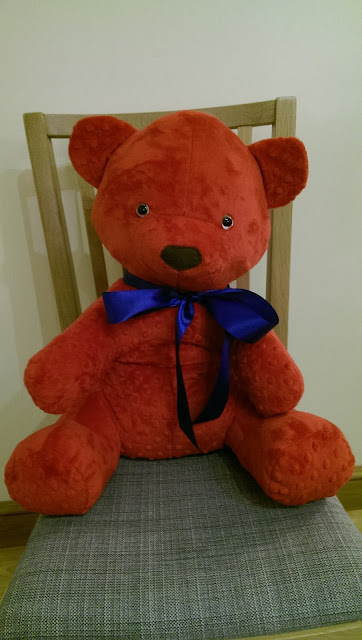 Red homemade teddy bear (version 2)