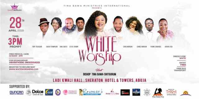 White Worship 2019: Frank Edwards, Chris Morgan, Steve Crown, Arewa Jesu, Sarah Thompson, Tony Treasure, Eunice Morgan And More.