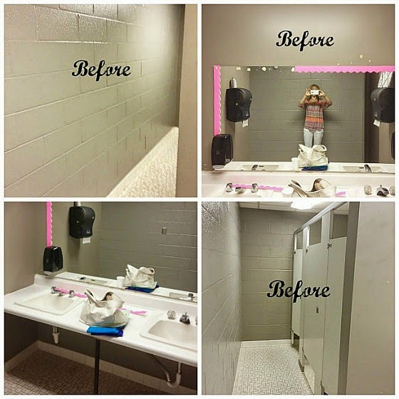 Girls Church Bathroom Makeover Www.diybeautify.com