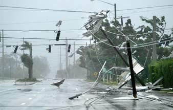 Ciudad arrasada por un tifón