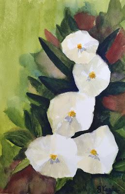 White Flowers - Watercolor - John Keese