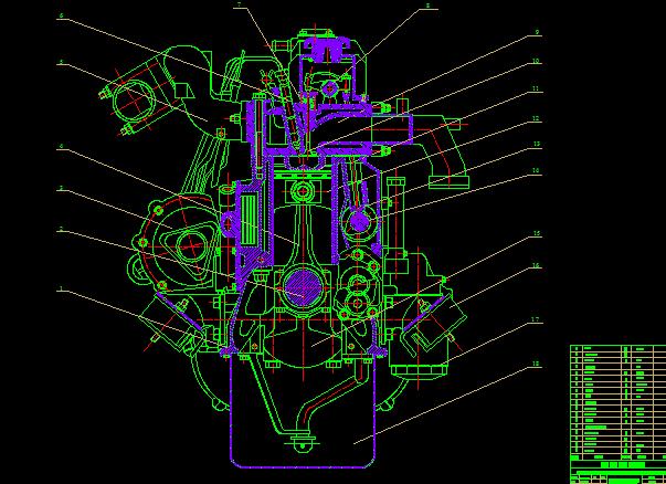 mặt cắt ngang hệ thống làm mát động cơ CA498