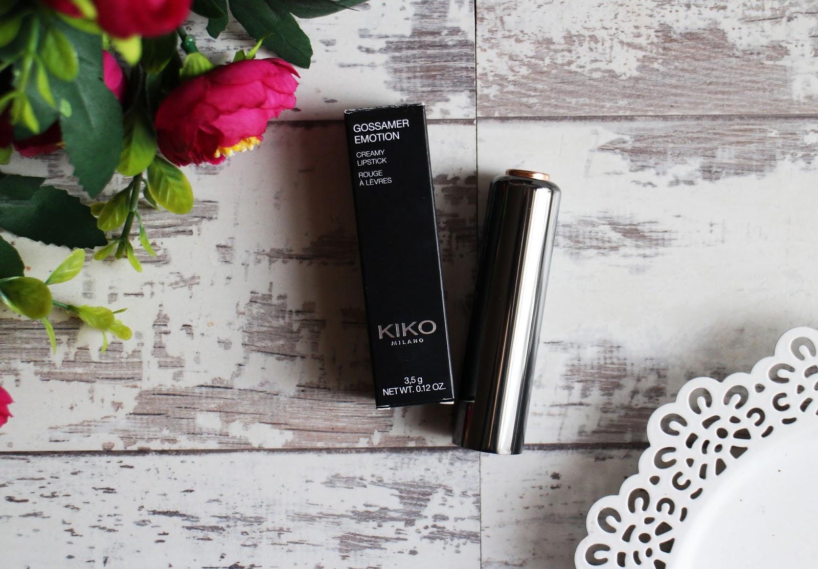 Kiko Gossamer Emotion Creamy Lipstick in 131 Tea Rose