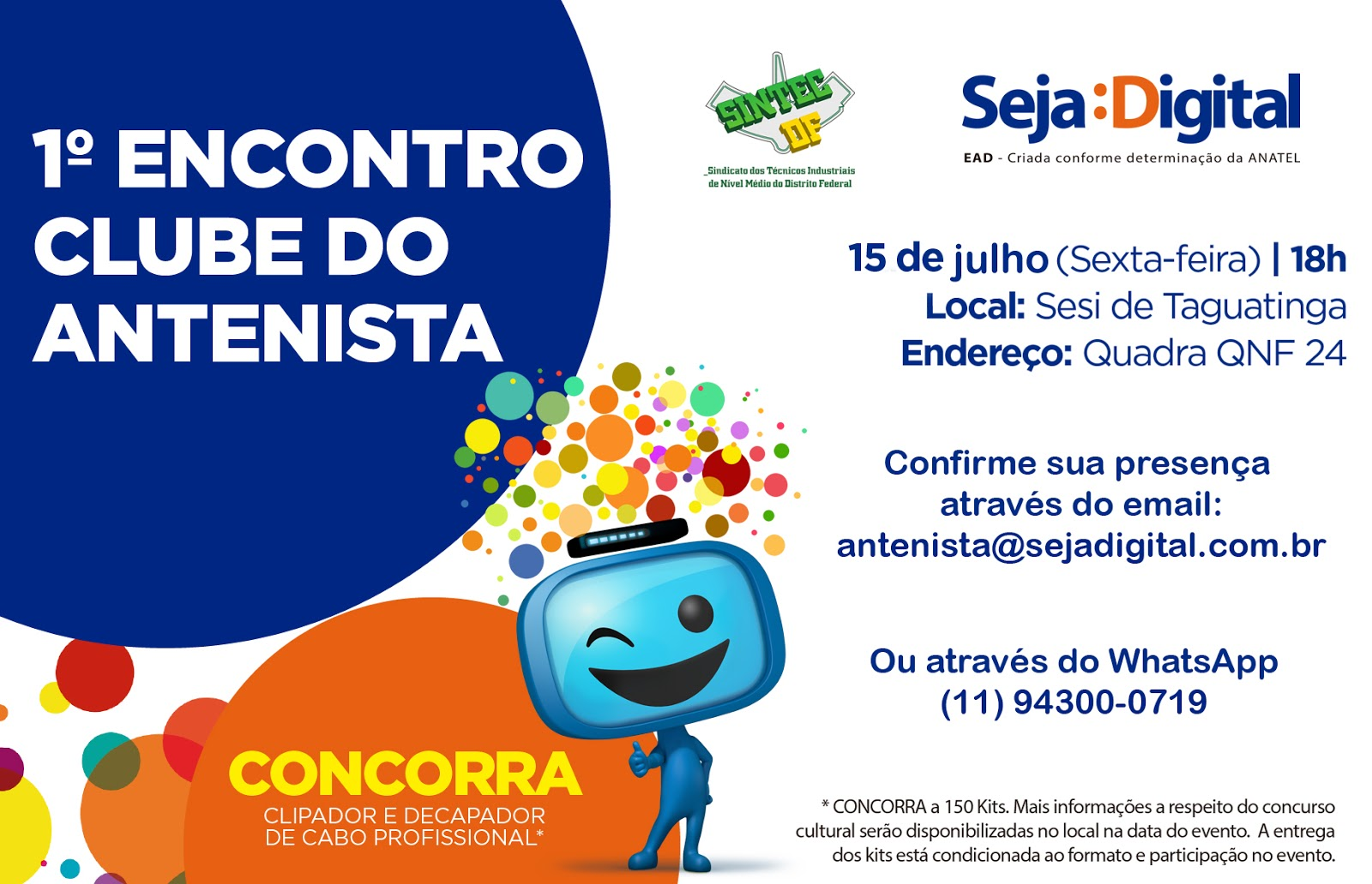 1º Encontro Clube do Antenista - SINTEC-DF