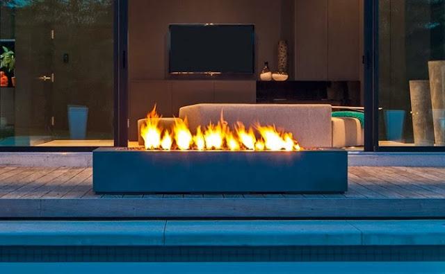 Rectangular Outdoor Fireplace Paloform Robata