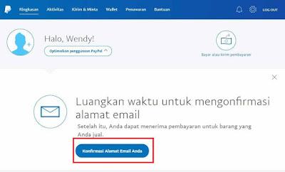 Cara Verifikasi Akun Rekening Paypal