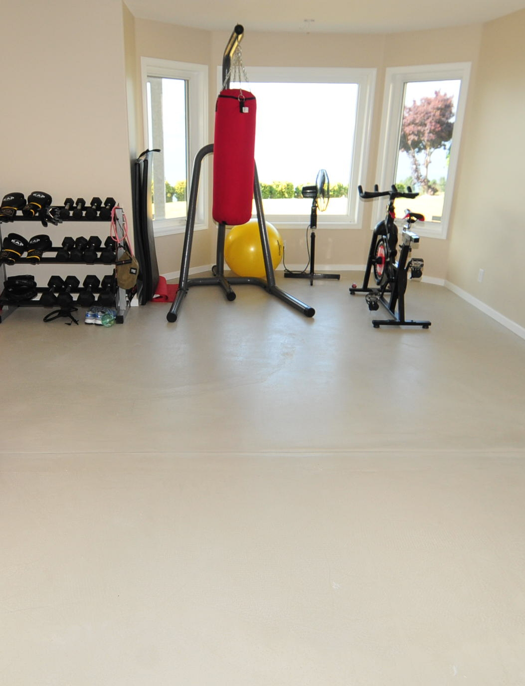 A Concrete Floor Is The Perfect Solution To Any Home Gym Bat Garage Or E You Want Something Super Durable That Easy Maintain