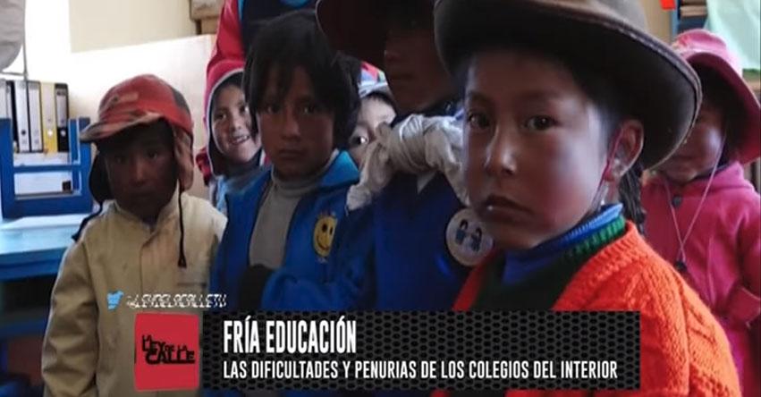 EDUCACIÓN CON LÍMITES: Conozca la cruda realidad de los estudiantes de Ocapata en Churcampa - Huancavelica [VIDEO]