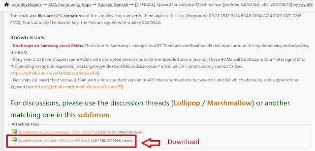 gambar halaman xda xposed installer