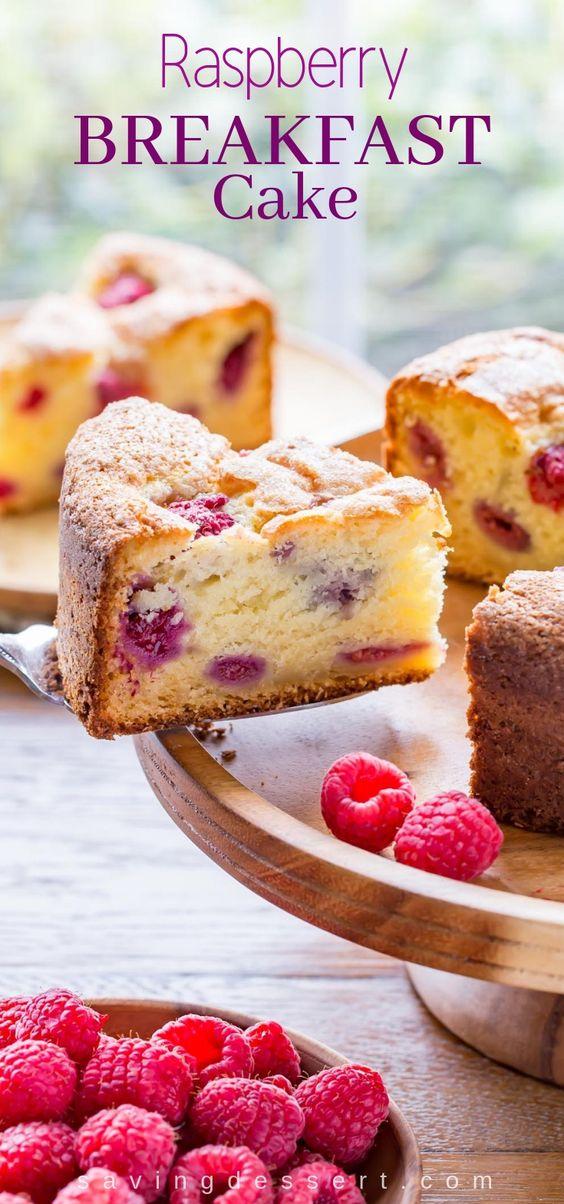 Raspberry Ricotta Breakfast Cake