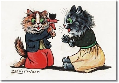 Louis Wain cat drawing