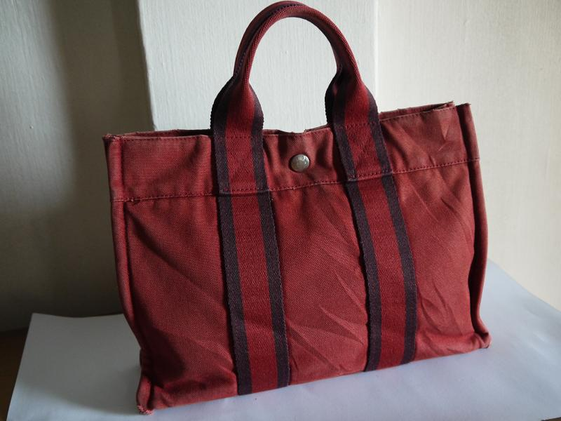 b5bfd33a214 Truly Vintage: Hermes Canvas Fourre Tout